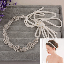 2cm Wide Twinkiling Full Crystal Lace Hair Head Band Accessories Bridal Prom