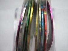 10 x Multi Colore Striping Tape Rolls - - gel-normale