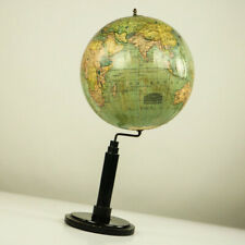 Historischer Columbus Volks Globus Erde Antik um 1918 Historic Earth Globe