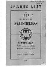 MATCHLESS  Parts Manual Book 1959 650 MODEL G12CSR SPORTS TWIN