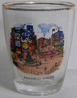 Vintage Picadilly Circus Shot Glass #3530