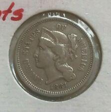 1881 Nickel 3 Cent Piece