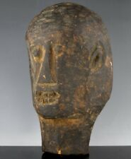 RARE ANTIQUE SOUTHERN USA OUTSIDER FOLK ART CARVED AFRICAN AMERICAN MAN'S HEAD