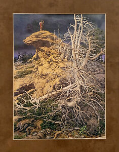 Bev Doolittle Prayer for the Wild Things  Matted Print fits 11x14 ready frame