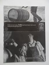 2003 Print Ad Jack Daniels Tennessee Whiskey ~ One Man to Plug a Leaky Barrel