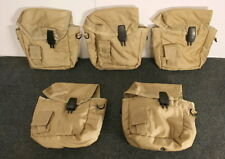 5 ARMY TYPE 2QT DESERT CANTEEN COVERS /STRAPS CLIPS NEW