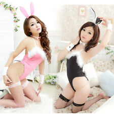 Costume Cosplay Sexy Fancy Bunny Rabbit Lingerie Full Set Dress Uniform Party f