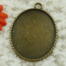 Free Ship 7 pieces bronze plated frame pendant 61x44mm #1554
