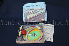 C896 Rare ancien jeu EXPRESS TRIAGE train mecanique wagon GG lithographie metal
