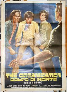 Hong Kong DEATH BLOW manifesto 2F originale 1974 arti marziali karate kung-fu