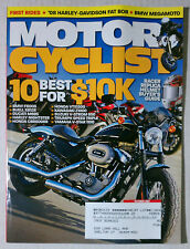 MOTORCYCLIST Motorcycle MAGAZINE 2007 OCTOBER HARLEY DAVIDSON NIGHTSTER CBR GSXR