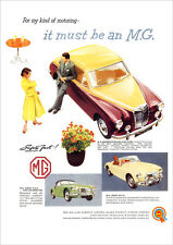 MG MAGNETTE & MGA RETRO POSTER A3 PRINT FROM CLASSIC 50'S ADVERT