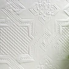 Textured, Highly Durable white paintable wallpaper 10m (Seymour Design)