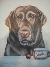 "Sue Rupp Dogs ""Chocolate Covered Cherries"" s/n lim ed. print"