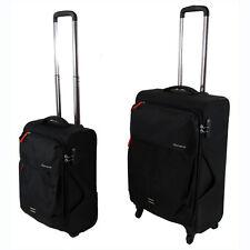 New 2 Pc Luggage Suitcase 4 Wheels Travel Cabin Size Bag Set Light Weight Black