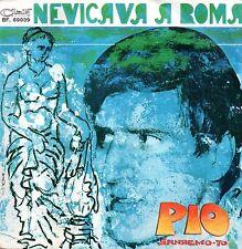 Pio-Nevicava A Roma 45 giri Clan Celentano Festival di Sanremo 1970