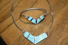necklace and bracelet Beautiful Mexican sterling turquoise