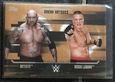 2017 Topps WWE Undisputed Dream Matches Bronze Batista Vs Brock Lesnar #d 61/99