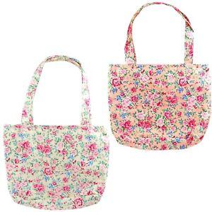 Little Girls Bag Cute Floral Cotton Tote Handbag Toddlers Children Kids 2-10 Yrs