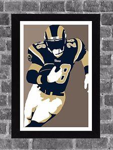 St Louis Rams Marshall Faulk Portrait Sports Print Art 11x17