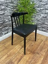 More details for heavy duty contract quality spindle back black leather restaurant pub side chair