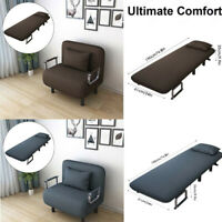 Convertible Sofa Bed Folding Arm Chair Sleeper Leisure Recliner Lounge Couch_k