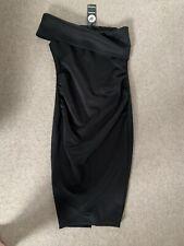 Black One Shoulder Maternity Dress Size 10 BNWT