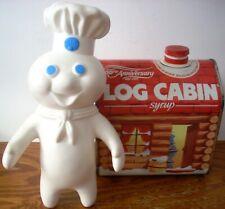Vintage 1977 Pillsbury Doughboy & 1987 100th Anniversary Log Cabin Syrup Tin