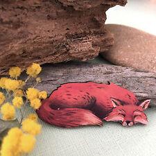 Fox BROOCH, Wood pin, Wooden lapel jewellery Foxy fun fashion pin Jewelery gift