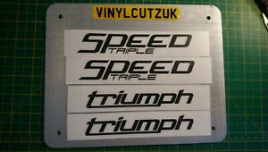 Speed Triple 1050  Fairing Decal / Stickers (Black/white) set tank/fairing. X4