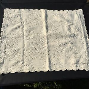 """Queen Size Pillow Sham Natural Matelasse 32"""" x 25"""" Spiegel 100% Cotton"""