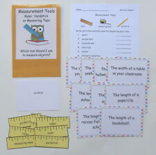 Teacher Made Math Center Educational Learning Resource Game Measurement Tools