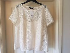 BNWT Dorothy Perkins Women's size 20 cream lace floral top t-shirt