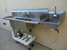 X Large Portable Propane 3 4 Compartment Commercial Concession Sink & Hand Wash