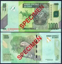 CONGO DEMOCRATIC 1000 Francs 30.06. 2013 SPECIMEN UNC P 101 b