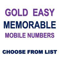 GOLD EASY Memorable Business VIP UK Mobile Phone Number PLATINUM Sim Card