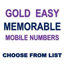 Gold EASY Memorable Business VIP UK Mobile Phone Number PLATINUM Sim Card