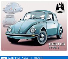 Large Beetle type 1 Vintage Metal Tin Sign Poster Bar Garage Wall Decor 40x30cm