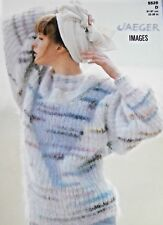 """JAEGER Knitting Pattern 5526 - Ladies Mohair T-Shape Sweater 32""""-38"""" Not a copy"""