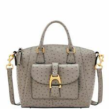 🌹NWT Dooney & Bourke Ostrich Exotic Naomi Satchel Handbag Grey~ NIP ~Free Ship