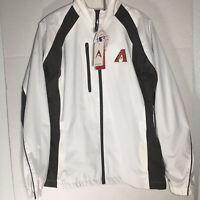 NWT Arizona Diamond Backs Logo White Antigua Womens S Full Zip Jacket Desert Dry
