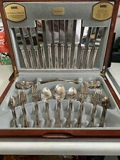 More details for vintage viners 44 piece canteen cutlery set harley elegance silver-plated used
