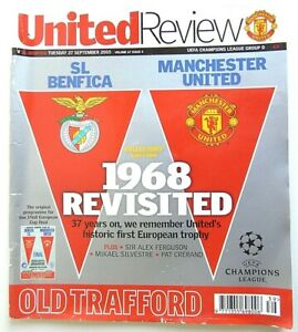 Manchester Utd Champions League Programme season 2005-06 V Benfica