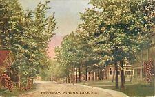 c1910 The Driveway, Winona Lake, Warsaw, Indiana Postcard