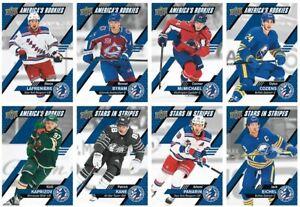 2021 UD National Hockey Card Day Complete Set USA 16 ct set w/Laffy & Kaprizov