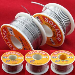 63/37 Rosin Core Solder Tin Lead Flux 2% Soldering Iron Wire 0.5 - 2.0mm 50/100g