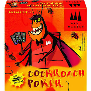 Cockroach Poker Fun Bluffing Card Game - Coiled Spring