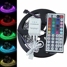 5M 5050 RGB 300 LED Non-Waterproof SMD Flexible Light Strip DC12V +44key Remote