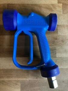 Blue Heavy Duty Water Wash Down Gun 1/2 BSP 24 Bar Adjustable Spray