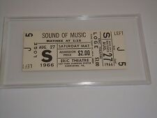 1966 THE SOUND OF MUSIC THEATRE TICKET in CASE Julie Andrews Christopher Plummer